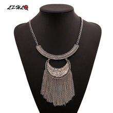 Lzhlq массивная Цепочка с подвесками и кисточками макси ожерелья