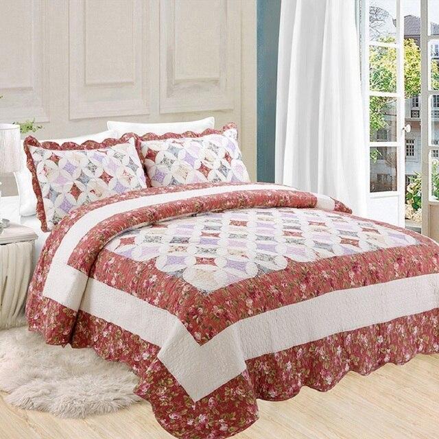 Chausub nuevo patchwork quilt set 3 unids coverlet lavado algod n edredones acolchado colchas - Edredones nordicos modernos ...