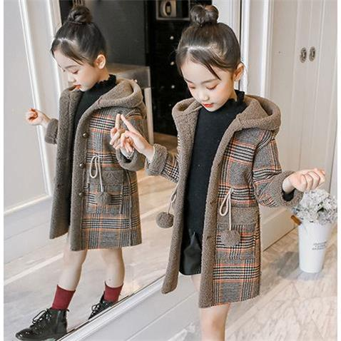 New Winter Spring Girl Padded Warm Fashion Woolen Coat Coat