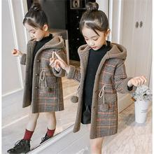 New Winter Spring Girl Padded Warm Fashion Woolen Coat