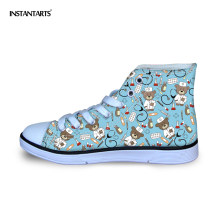 be7a68555384a9 INSTANTARTS Kids Sneakers Cute Cartoon Bear Pediatrics Nurse Printed Canvas  Shoes for Baby Girl Boy Children High Top Sport Shoe