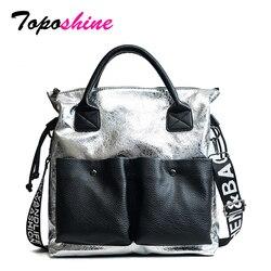 Toposhine Large Capacity Women Bags Fashion Shopping Bag Double Pocket Girl Casual Tote 2018 Young Lady Handbags Shoulder Bag