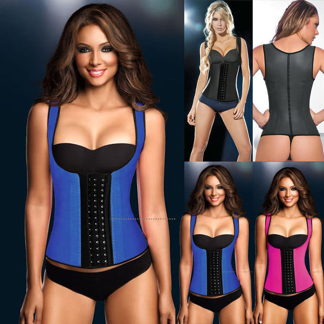 Steel Bone Fitness Vest Plus Size Corset Women Shoulder