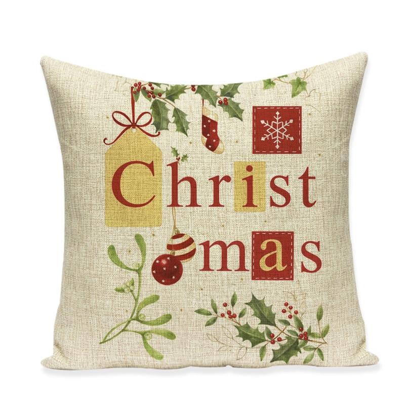 Ziemassvētku spilvenu pārvalka dīvāns augstas kvalitātes - Mājas tekstils - Foto 5