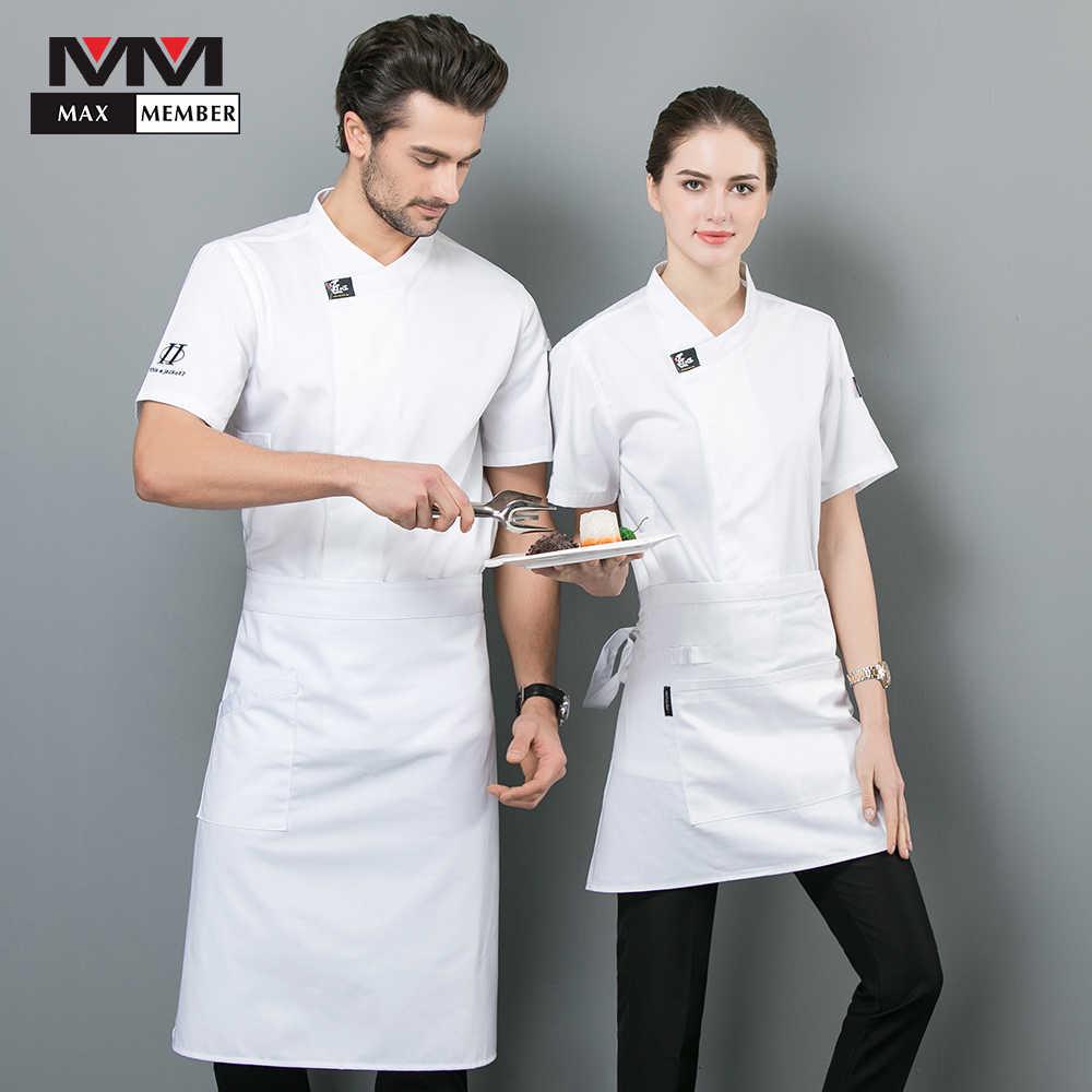 Chef Jacket Food Service Summer Hotel Kitchen Uniform Unisex Multi-Size Suit