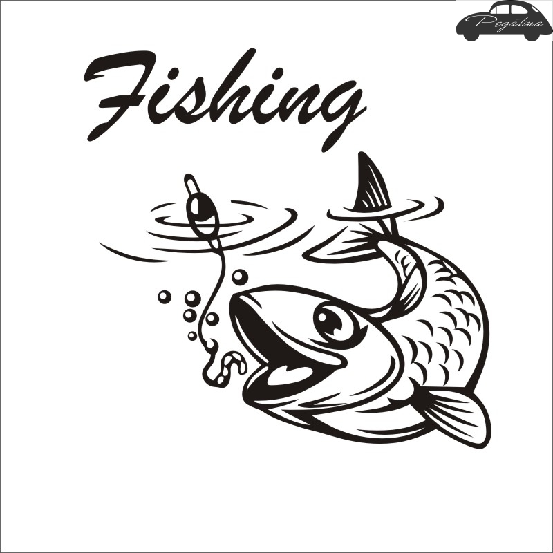 Fishing Sticker Name Fish Angling Hooks Decal Tackle Shop Posters Vinyl Wall Decals Hunter Decor Mural Sticker