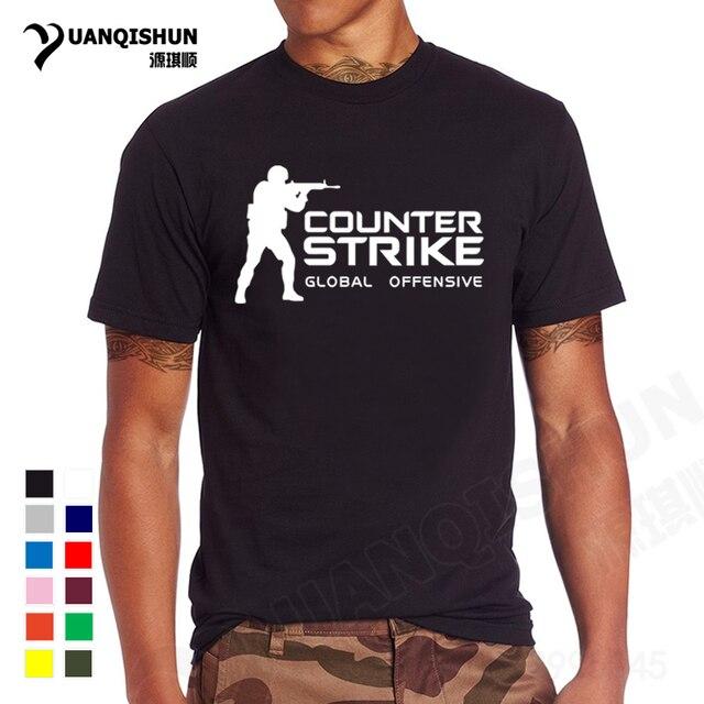 68d91efd2 YUANQISHUN Brand Tee CS GO T Shirt Counter Strike Global Offensive CSGO  TShirt Men Casual Games Team Funny T-Shirt Summer Tops