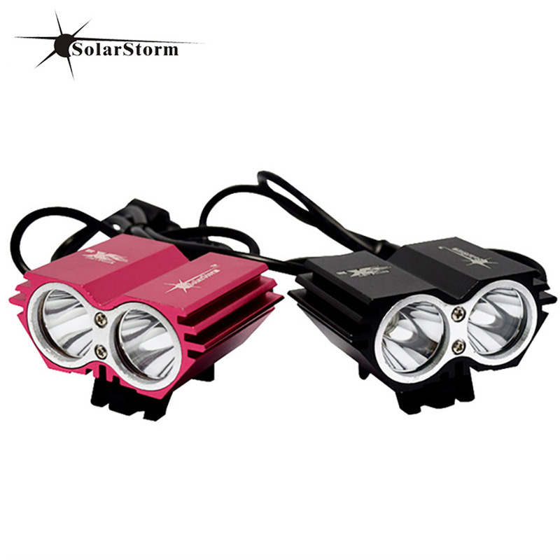 Solarstorm Bike Light 8000Lumen LED light cycling lamp bike bicycle +Battery Pack+Charger mountain bicicleta bike accessories bike light x2 5000 lumen light bicycle lamp 2x cree xml u2 led bicyclelight bike headlamp battery pack charger