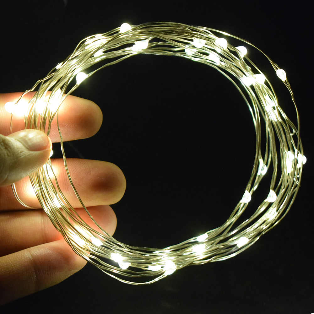 LED String lights Holiday Fairy Garland For Bedroom Christmas Tree Wedding Party Decorations Decorative Outdoor Battery bulbs