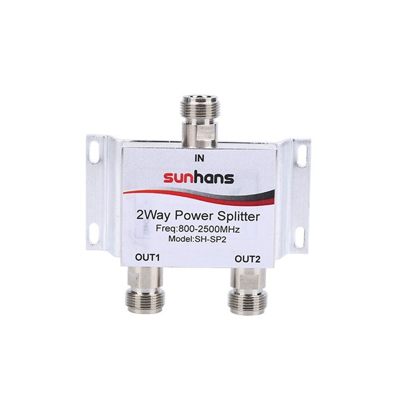 Sunhans New 800~2500MHz N 2-way RF Power Divider Splitter For GSM&CDMA&DCS 3G 4G Mobile Phone Signal Repeater