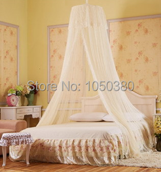 Double Bed Canopy palace lace single double bed canopy round conical with clothing