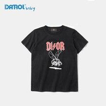 2017 Fashion Summer Boys T-shirts Cotton O-neck T-shirt Baby Kids Short Top Tees Child T-shirt Boy Clothes Black White DR17S020