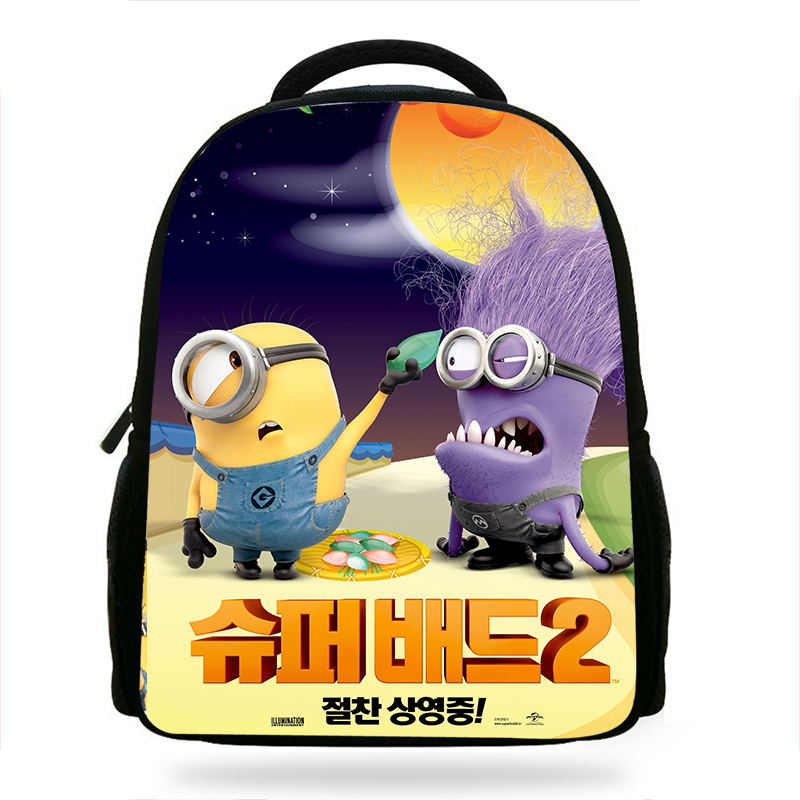 14inch Popular Cartoon Despicable Me Printing Backpack Boys School Daily Backpacks Little Children Backpack Kids Mochlia