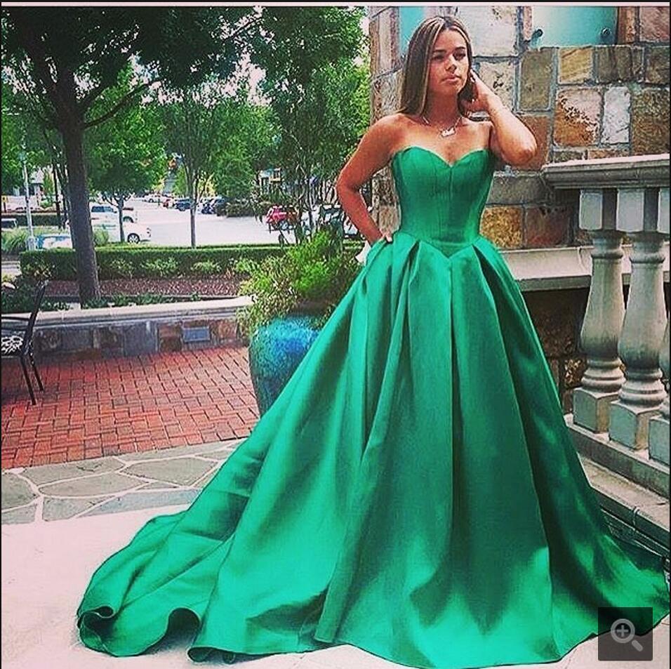 Где купить Новинка 2016 года; Модное бальное платье; зеленое пышное платье принцессы для выпускного вечера; платье без бретелек с вырезом-сердечком; торжественное простое платье для выпускного вечера; Лидер продаж