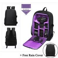 Multi functional Digital DSLR Camera Video Bag w/ Rain Cover SLR Backpack for Sony a6000 Canon EOS T6 Nikon D5500 Pentax K70 K50