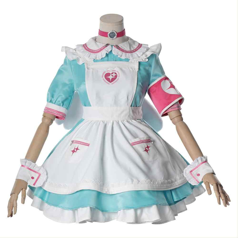 Fantasia vestido de dama de honra para meninas, cosplay de anime feminino, vestido de dama de honra, halloween, carnaval