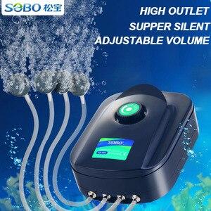 Image 1 - SOBO גבוהה כוח 8w 12w דגי טנק חמצן משאבת אוויר דגי אקווריום אוויר מדחס אוויר מתכוונן זרימת חמצן משאבת דגים