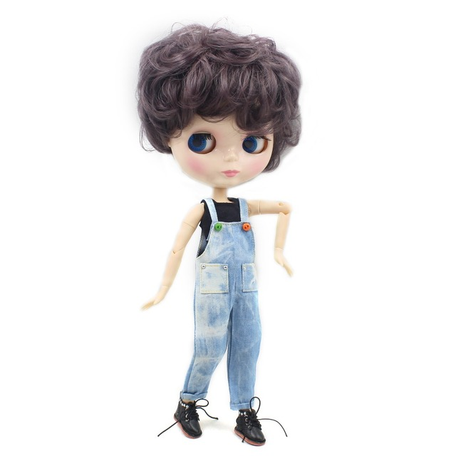 TBL Neo Blythe Male Doll Purple Short Hair Jointed Body