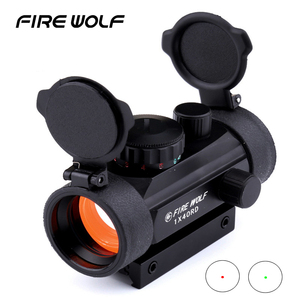 FIRE WOLF 1x40 Hunting Tactical Holographic Riflescopes Red Green Dots Optical Sight Scope Adjustable Rifle Gun Scope Airsoft