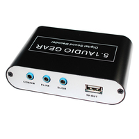 Hot sell 5.1 CH Audio Decoder SPDIF Coaxial to RCA DTS AC3 Digital to 5.1 Amplifier Analog Converter for PS3,DVD player, Xbox