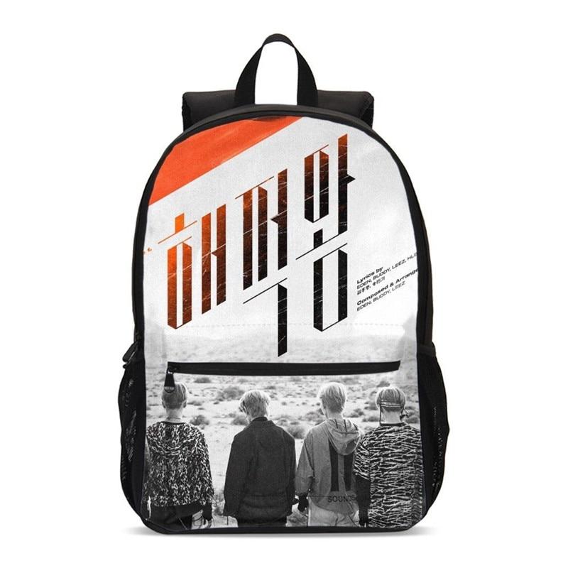 Backpacks For Girls Fashion Cool Korea Group ATEEZ 3D Printing Bookbag School Bag Travel Backpack Casual