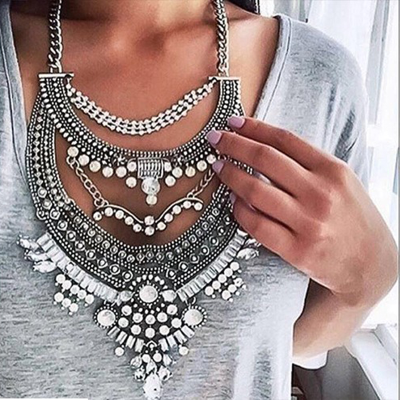 Dvacaman Brand 2017 Hot Sale European Style Vintage Maxi Statement Necklace Chokers Collar Custom Jewelry Accessory Bijoux A45