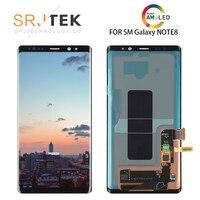 НОВЫЙ 6,3 оригинальный AMOLED ЖК дисплей для SAMSUNG Galaxy NOTE8 lcd N9500 N9500F ЖК дисплей сенсорный экран Запасные части + рамка