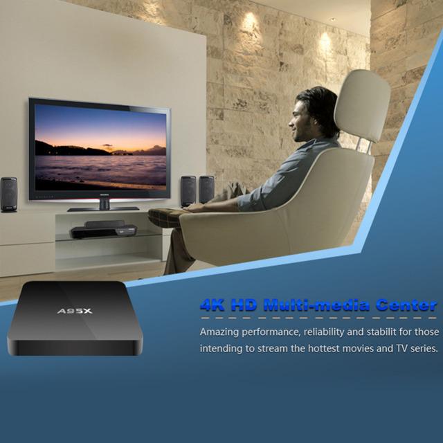 Smart TV Caja Amlogic Cuadro de TV Android Más Reciente S905 A95X Nexbox Caja androide 1G/8G Quad core 2.4G Wifi KODI 16.1 Smart Media jugador