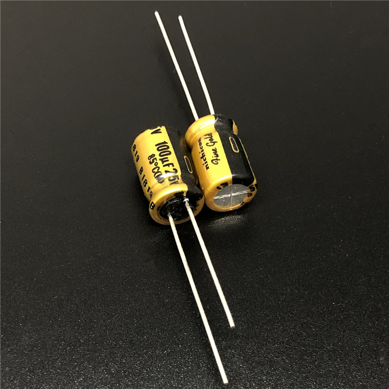 5pcs/50pcs 100uF 25V NICHICON FG(Fine Gold) 8x11.5mm 25V100uF MUSE Top Grade Audio Capacitor