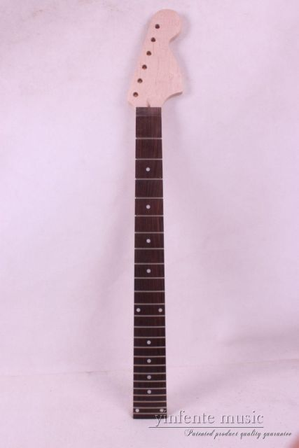 one   electric guitar neck maple made and maple wood  fingerboard Bolt on 24 fret one electric bass guitar neck high quality maple made with ebony fingerboard 21 fret