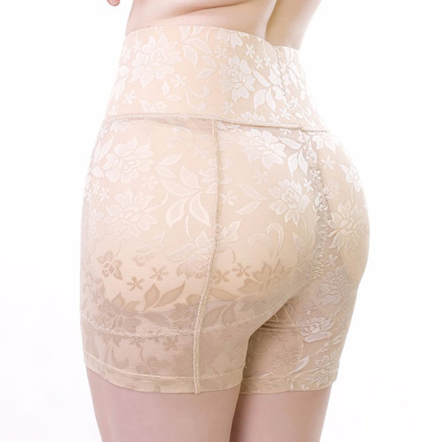 2e2c2fd7d0f High waist Abundant fake butt pad hip pants New Control panties Fashion  sexy Lace Breathable Buttock Underwear Lace Anti Emptied