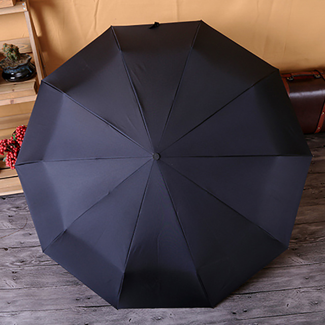 Fully Automatic Male Umbrella Rain Women Folding Men Parasol Waterproof Upscale Car Umbrellas Gifts Wooden handle guarda chuva
