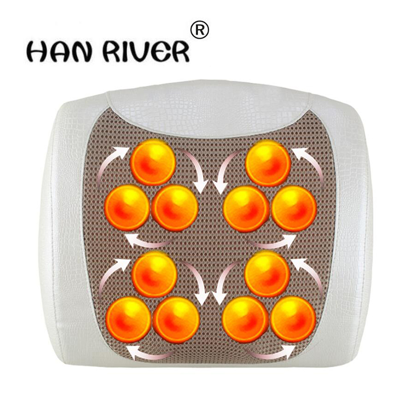 все цены на HANRIVER Massage pad multifunctional cervical vertebra massage device neck cushion household electric massage pillow онлайн