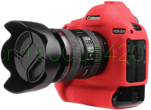 Free shipping DSLR SLR Camera Bag Lightweight Camera Bag silicone Case Cover for Canon 1DX Red