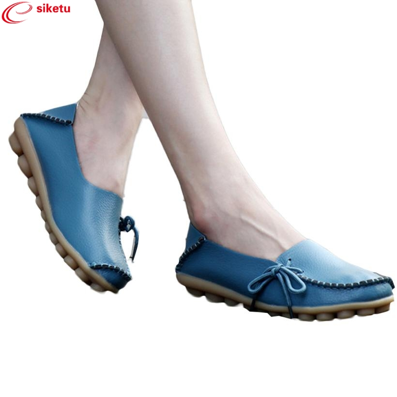 Charming Nice siketu Best Gift New Brand Lady Women Leather Shoes Loafers Soft Leisure Flats Female Casual Shoes Jn5 Y35 charming nice siketu best gift baby flats tassel soft sole cow leather shoes infant boy girl flats toddler moccasin y30