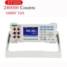 цена на Lcd Color Digital Multimeter Capacitance Resistance Frequency Measuring Desktop Instrument DCV ACV DCI ACI ET3240 ET3255 ET3260