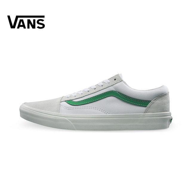 Vans Old Skool Sneakers Low top Trainers Men Sports Skateboarding Shoes  White Green Classic Canvas Brand Designer Outdoor Good-in Skateboarding  from Sports ... ffadb750f