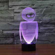 Creative Christmas Gifts Atmosphere 3D Lamp Bedroom LED Night Light with Touch switch home decoration