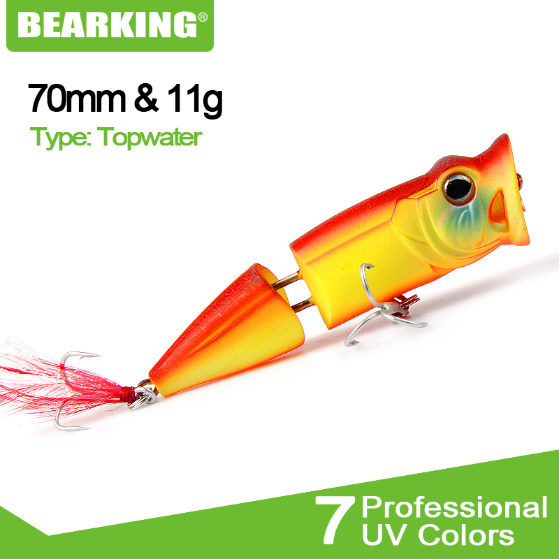 2018 hot model Bearking popper 7cm 11g Wobblers de pesca 5pcs / lot - Pescando - foto 1