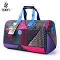Mulheres de Impressão moda Saco de Viagem de Grande Capacidade Homens Duffel Bag Alça de Ombro Saco de Lona À Prova D' Água 3017