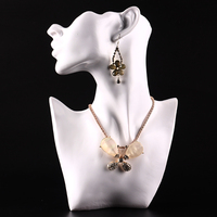 Jewelry Necklace Earring Display Stand Bust Figure Mannequin Model Showcase