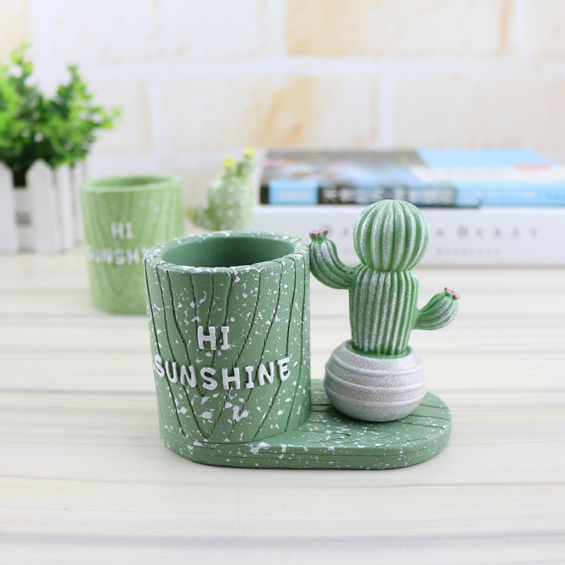 Cactus Series Pen Holder Novelty Office Desk Pen Organizer as Pencil Holder cactus mucilage as pharmaceutical excipient