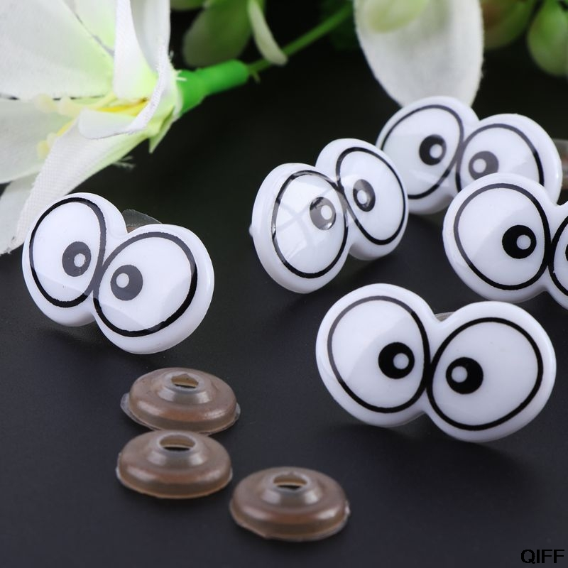 10pcs Plastic Cartoon Safety Eyes For Toy Bear Doll Puppet Stuffed Animal Crafts Children DIY With Washers