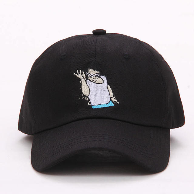 2017 new SALT BAE Men women Dad Hat Cartoon character Embroidered Baseball  Cap Curved Hat Cotton new Style Fashion Sun Hat aa46a00c1828