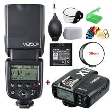 цена Godox V850II 2.4G GN60 Wireless X System Li-ion Battery Speedlite with X1T Trigger Transmitter for Canon Nikon Sony Fuji Olympus онлайн в 2017 году