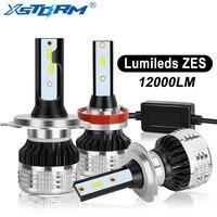 2 шт. H4 H7 Led H1 H11 H8 H3 HB4 HB3 H27 Led с Lumileds чипы ZES Canbus автомобильные светодиодные лампы фар 80 Вт 12000LM для автомобильных фар автомобилей