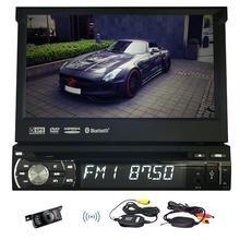 Free Wireless Rear Camera+1 Din Touchscreen Car DVD Player In Dash GPS Navigation Stereo Bluetooth AM FM Radio Audio System USB
