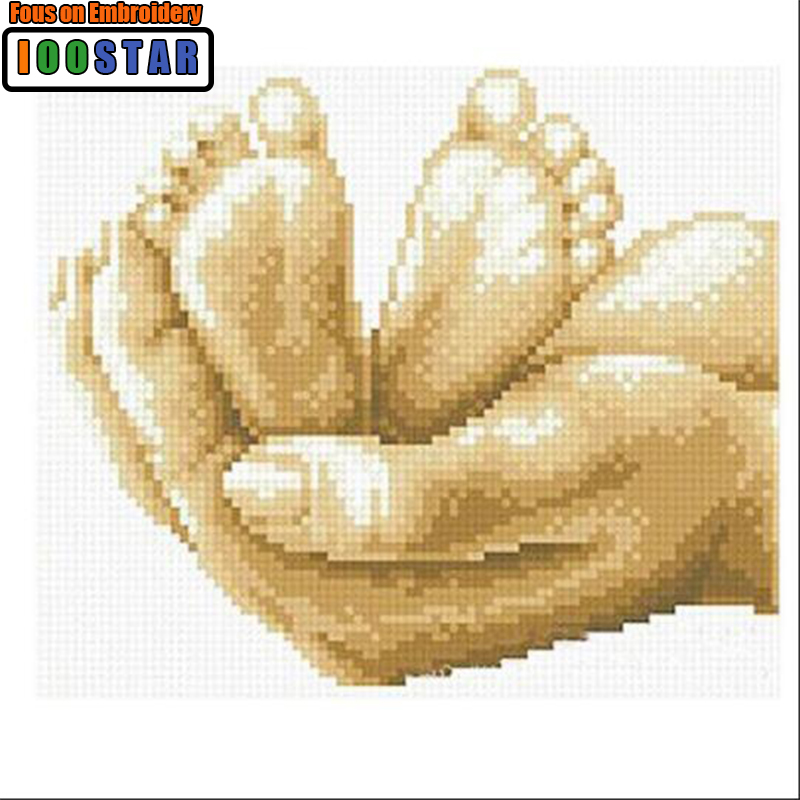 Sweet Life DIY Diamond Painting Hand and Baby Feets Full roundsquare  Mosaic  Diamond Embroidery Icons Cross-Stitch House