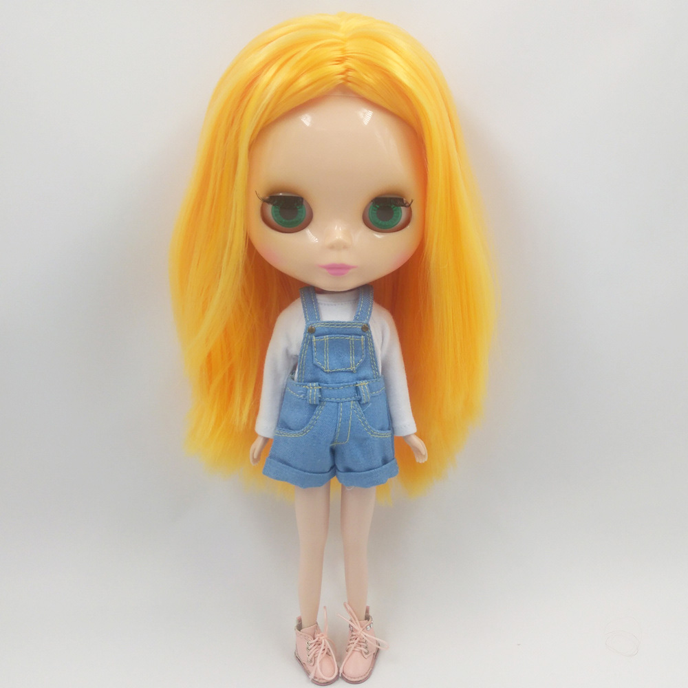 ICY Nude Blyth Doll Series No BL5535 Mango hair without bangs Flesh color skin Factory Blyth