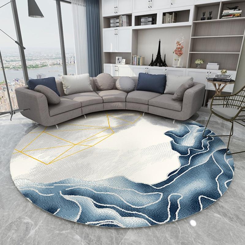Tapis ronds de tapis de Style nordique pour la maison tapis de salon étude tapis d'ordinateur de chaise tapis de polypropylène chambre à coucher tapis ronds épais